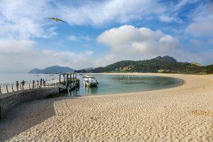 Rodas Beach. Cies Islands. Atlantic Islands of Galicia National Park. Vigo estuary. Rias Baixas. Pontevedra province. Galicia. Spain